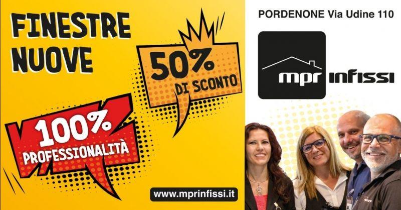 Offerta sconto in fattura infissi 2021 Pordenone - Promozione serramenti con sconto 50% in fattura Pordenone