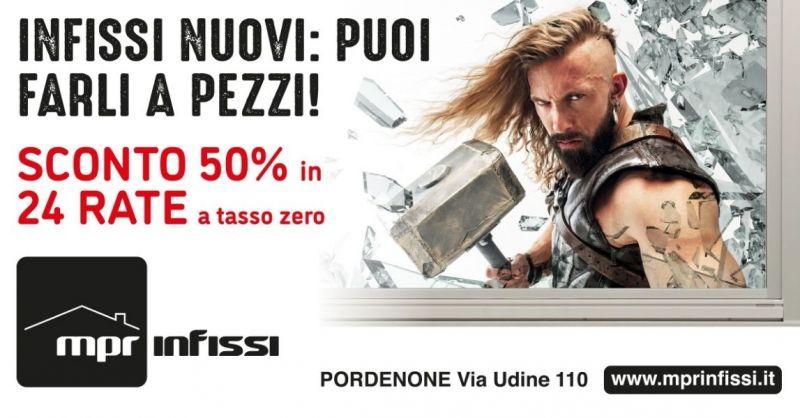 Promozione acquisto infissi con sconto 50 in fattura - Offerta vendita infissi con sconto 50 Pordenone