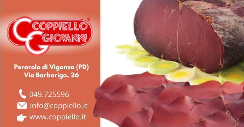 Offerta produzione speck di cavallo senza glutine - Occasione speck carne equina gluten free Padova