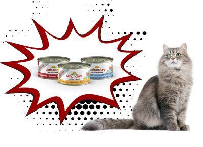 offerta vendita scatolette per gatti cibo naturale almo nature