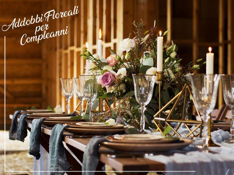 Offerta Composizioni Floreali professionali per feste di compleanno - Flora 2000