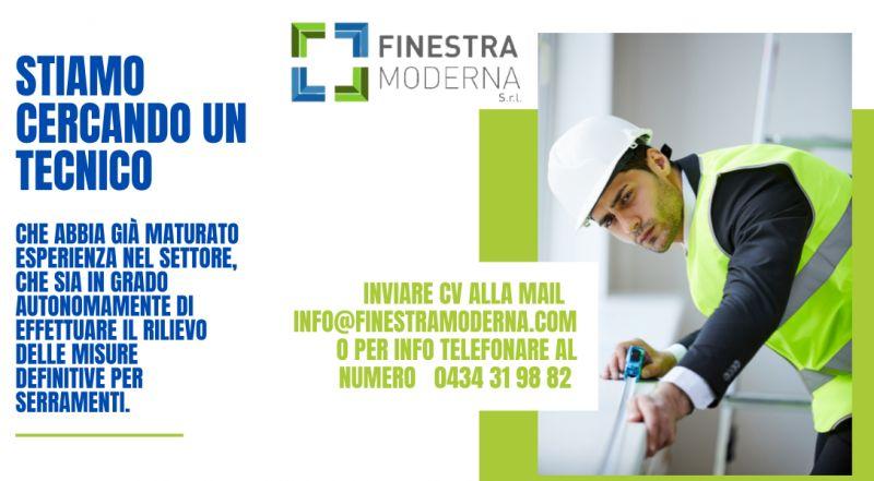 Offerta di lavoro come serramentista a Pordenone e Treviso a Venezia – occasione cercasi tecnico serramentista a Pordenone e Treviso a Venezia
