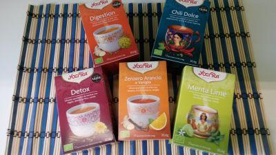 offerta tisane biologiche yogi tea occasione infusi ayurvedici a base di erbe e spezie