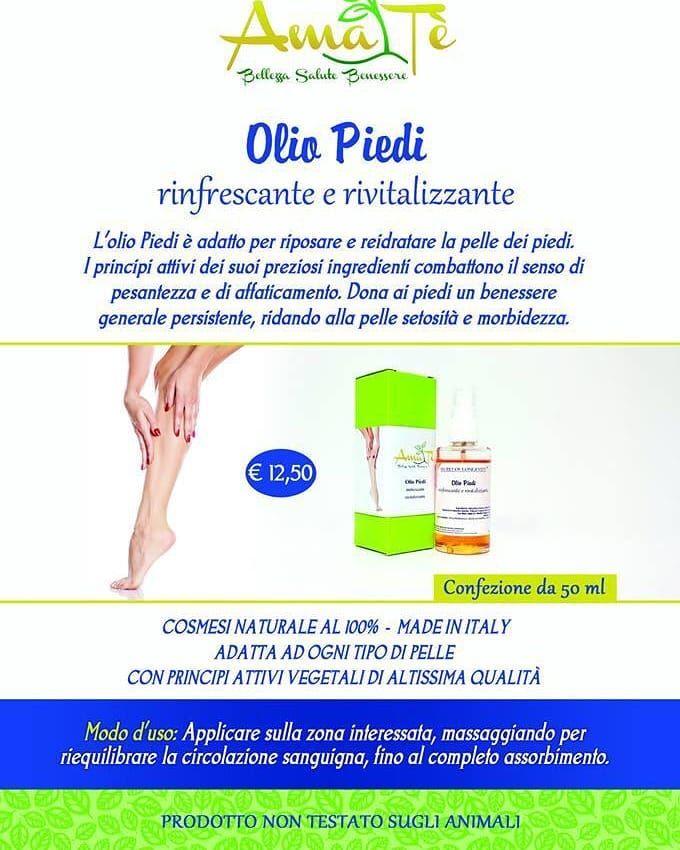 OFFERTA Olio piedi naturale - OCCASIONE olio piedi rinfrescante