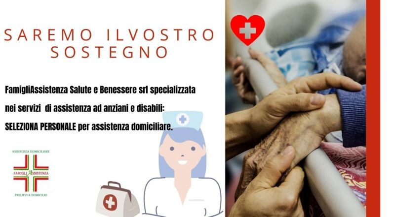 Occasione selezione personale specializzato per assistenza anziani e disabili a domicilio a Treviso