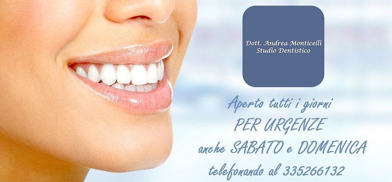 offerta Studio Dentistico Monticelli dentista per urgenze - occasione studio odontotecnico como