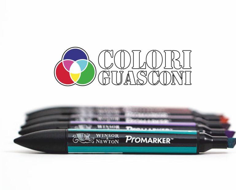 COLORIFICIO GUASCONI offerta pennarelli promarker windsor newton - pennarelli design