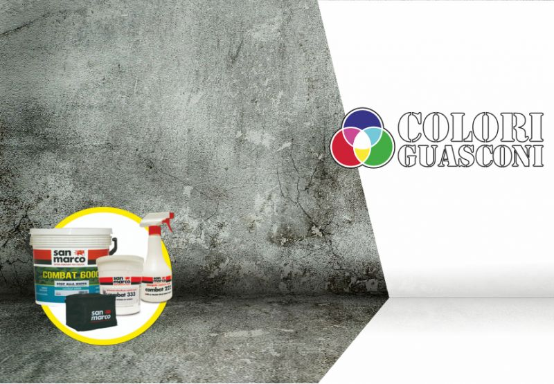 COLORIFICIO GUASCONI offerta kit combat 6000 san marco - eliminare muffa prevenire ricomparsa
