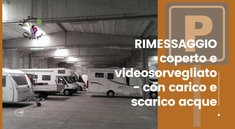 Occasione rimessaggio per camper coperto e videosorvegliato a Pordenone – offerta rimessaggio con carico e scarico acque a Pordenone