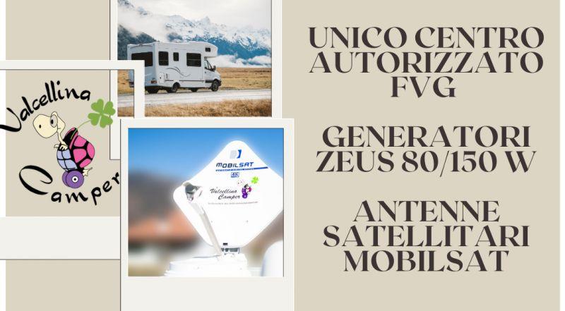 Occasione centro autorizzato FVG generatori Zeus e antenne satellitari mobilsat a Pordenone – offerta istallazione antenne su camper a Pordenone
