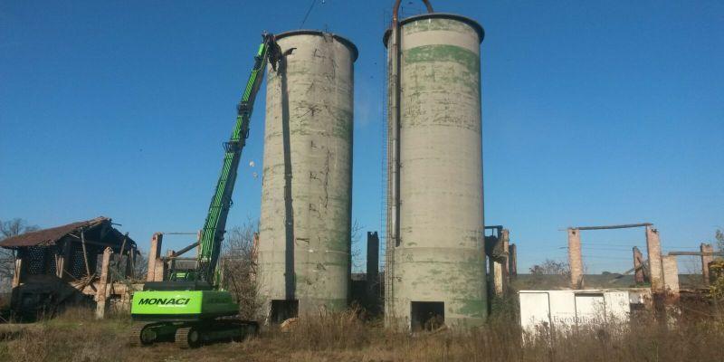 demolizione-silos-silos calcestruzzo-silos ferro-silos metallici