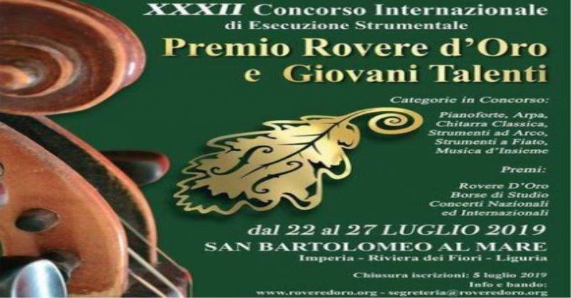 Offerta Concorso musicale Premio Rovere d'Oro - Promozione Residence del Prado Riva Ligure