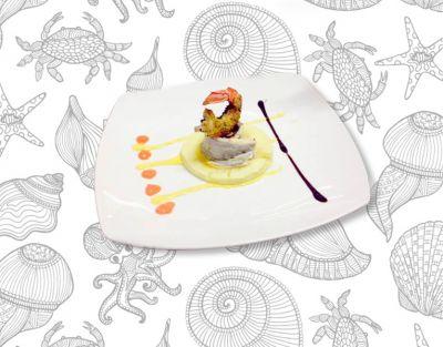 offerta realizzazione composizioni creative promozione pietanze di pesce creative