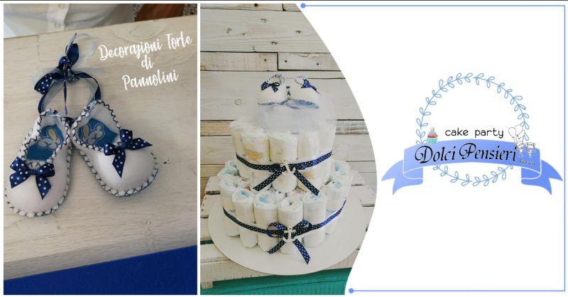 Offerta realizzazione torte di pannolini a Lecce - Occasione servizio diaper cakes Lecce