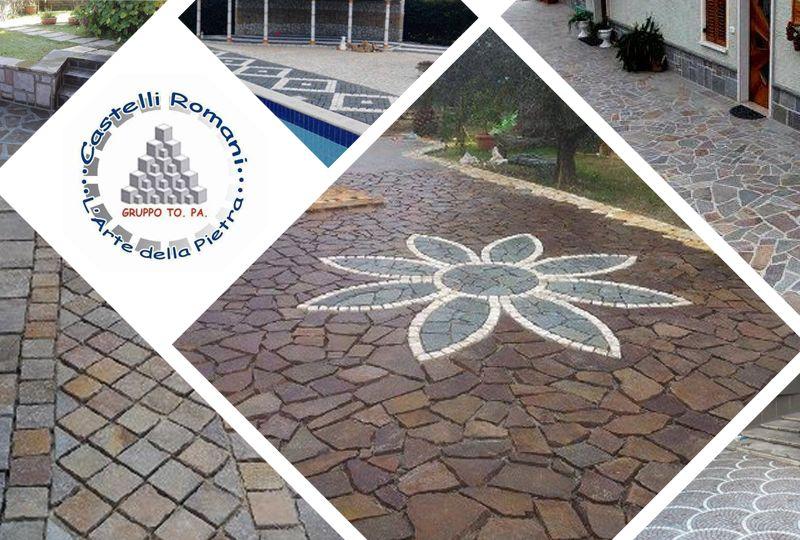 offerta impresa pavimentazioni pietra naturale - pavimentazioni stradali castelli romani