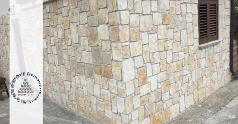 Occasione rivestimento in pietra di Trani porfido luserna quarzite zona Castelli Romani