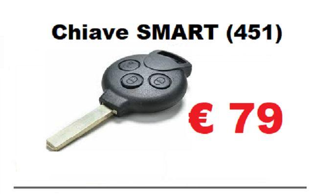 Offerta duplicazioni chiave smart 451 con radiocomando