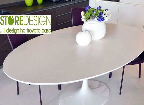 Tavolo Tulip Made in Italy ovale laminato liquido - tavolo Saarinen ovale