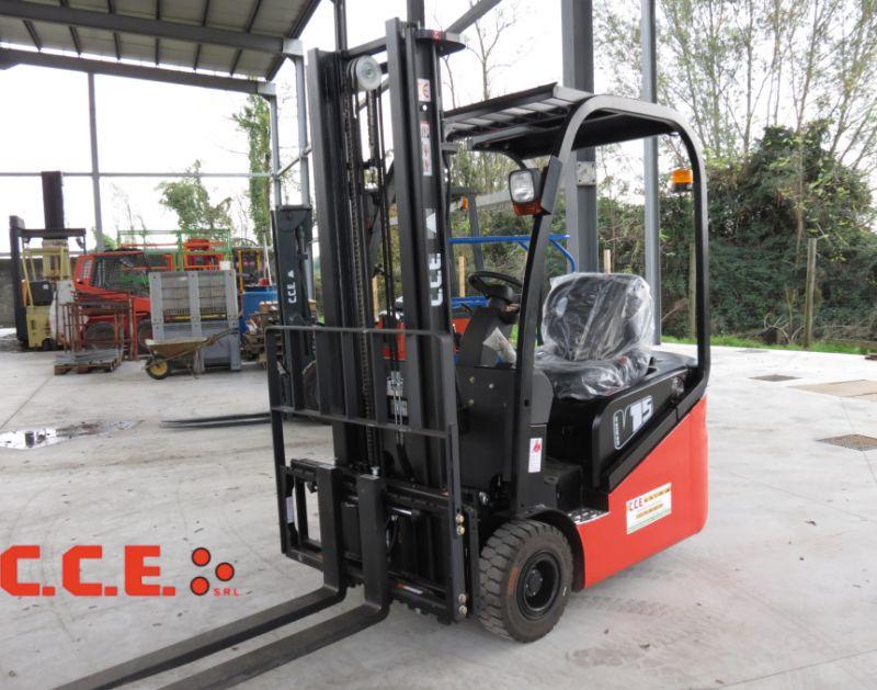 CCE srl offerta vendita carrello elevatore elettrico frontale a 3 ruote EP CPD15TVR5
