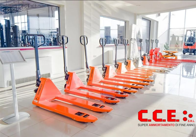 CCE srl offerta transpallet nuovi super ammortamento fine anno - promozione carello elevatore
