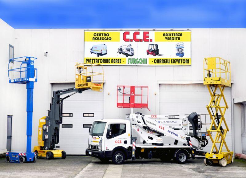 CCE srl offerta noleggio piattaforme aeree autocarrati verticali – promo piattaforme aeree articolate