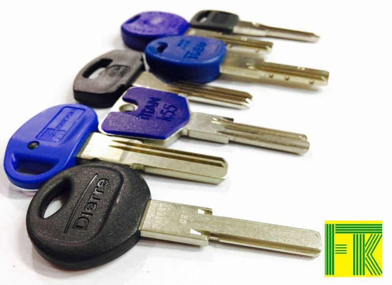 Duplicazione chiavi di sicurezza per porte blindate, Cilindro europeo.