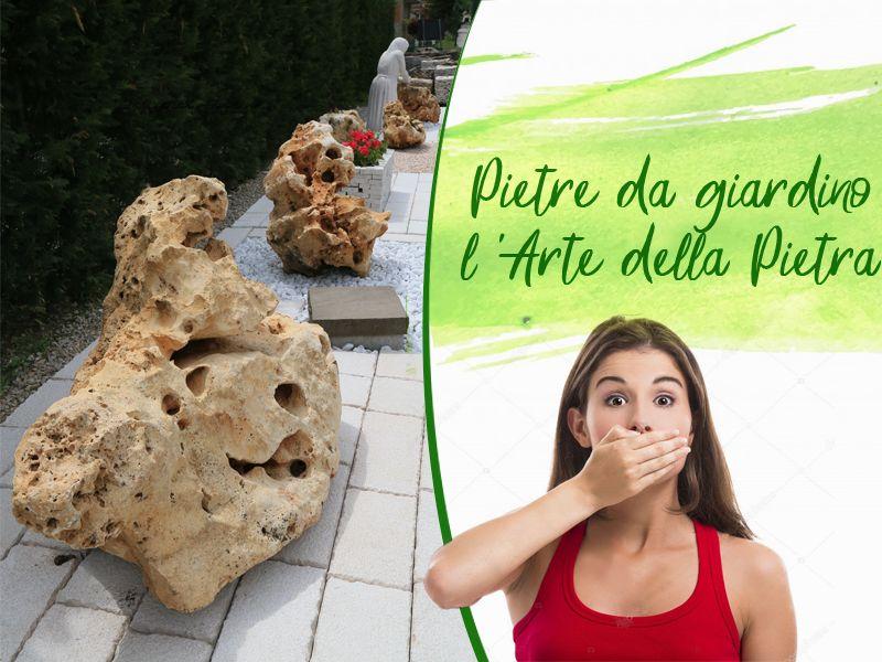 Offerta vendita pietre da giardino realizzate artigianalmente a Salerno -  L'arte della Pietra