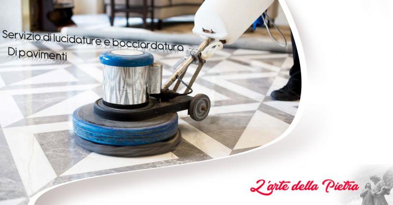 Offerta servizio professionale di lucidatura e bocciardatura di pavimenti Teggiano