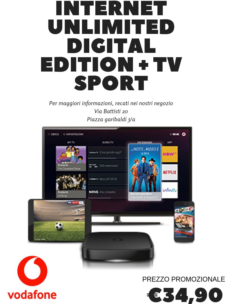 VODAFONE TV- SPORT- VEGA STORE- CALCIO