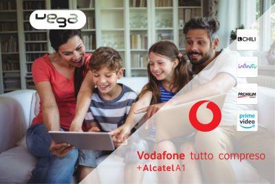 vega store offerta vodafone internet fibra promozione alcatel in regalo