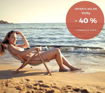 offerta sconto solari vichy promozione creme solari prezzo scontato