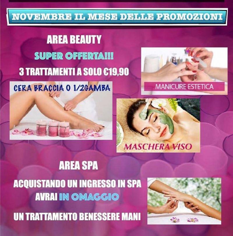 Offerta prenotazione online pacchetto estetico novembre-Promozione trattamento estetico novembr