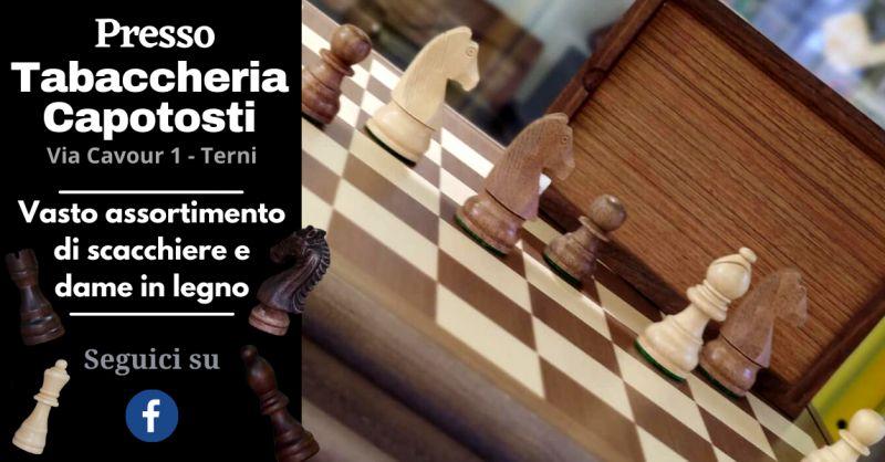 Offerta vendita scacchiera in legno Terni - Occasione vendita pedine scacchi in legno Terni