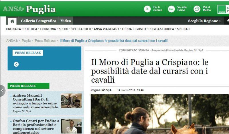 Ippoterapia e Pet Teraphy a Taranto - scuola di equitazione Moro di Puglia taranto