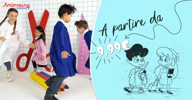 Offerta vendita grembiuli scuola elementare - Promozione distribuzione grembiuli per asilo