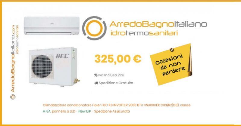 ArredoBagnoItaliano offerta vendita online CLIMATIZZATORE CONDIZIONATORE HEC K6 Haier Inverter