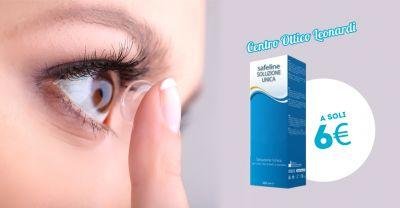 offerta soluzone unica lenti a contatto safeline promozione liquido lenti a contatto safeline
