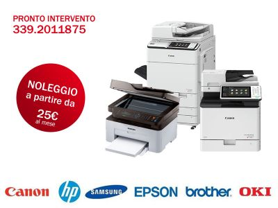 offerta vendita noleggio stampanti multifunzione servizio assistenza stampanti toner laser