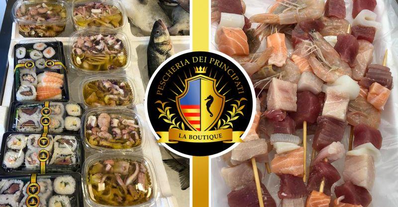 PESCHERIA DEI PRINCIPATI - offerta vendita piatti di pesce pronti da cucinare salerno