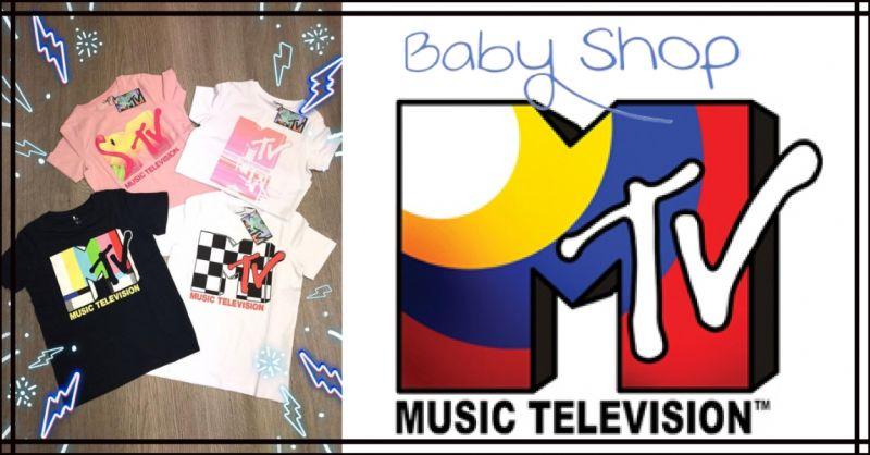 BABY SHOP - Occasione vendita nuovi arrivi abbigliamento magliette bambino TSHIRT MTV