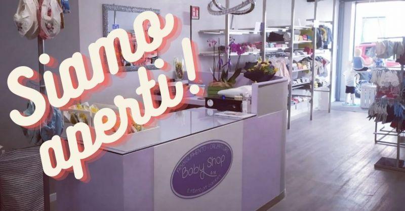 Baby Shop Noventa Vicentina e Cologna Veneta negozio abbigliamento bimbo APERTI in zona rossa