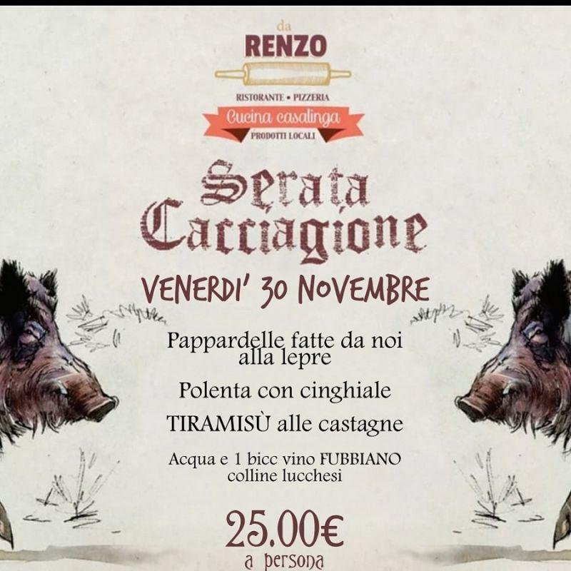 RISTORANTE DA RENZO offerta ristorante cucina casalinga - promozione serate e eventi a Lucca