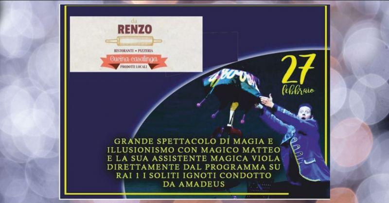 offerta ristorante con spettacolo di magia e illusionismo Lucca - RISTORANTE DA RENZO