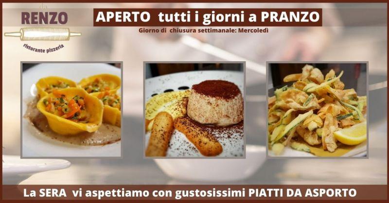 RISTORANTE DA RENZO - offerta cena da asporto e ristorante take away Lucca