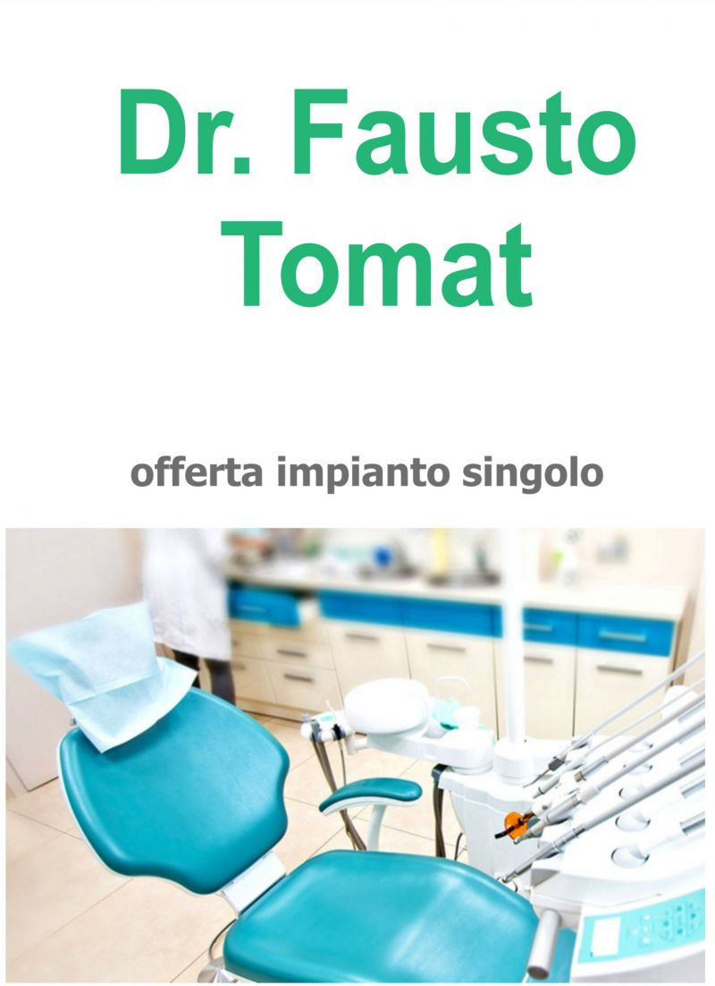 Offerta Implantologia Udine - Offerta Implantologia impianto singolo con capsula in zirconio UD