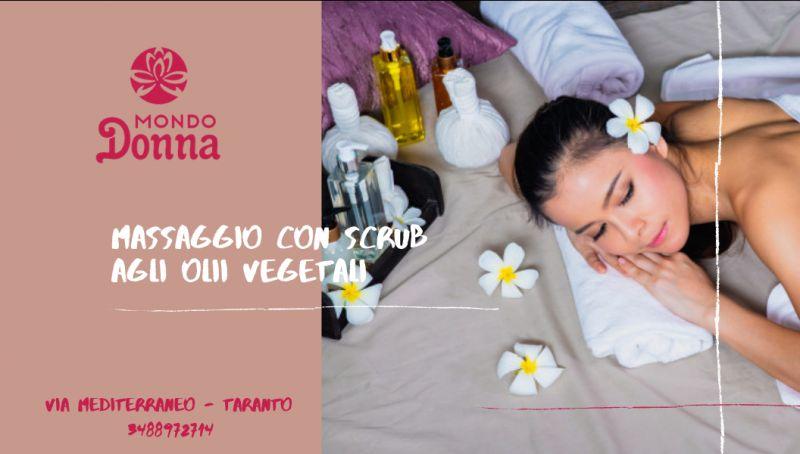 Offerta massaggio con scrub taranto - offerta scrub con olii vegetali taranto - offerta scrub