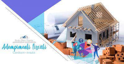 offerta servizio professionale adempimenti fiscali condomini e immobili studio piero guercia