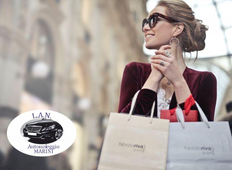 LAN autonoleggio offerta shopping tour - promozione outlet tour