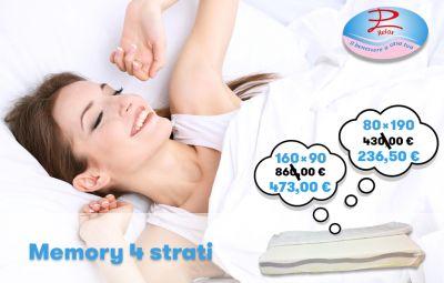 offerta materasso matrimoniale sfoderabile in memory barletta andria trani pl relax