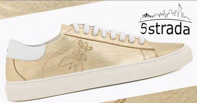 offerta sneakers donna in pelle laminata oro patrizia pepe 5a strada shop